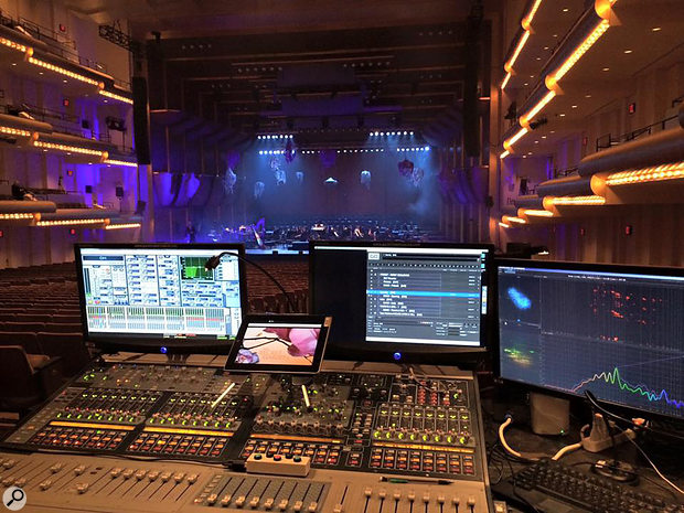 Digital consoles provide the complex scene and VCA automation required by big-budget performances, while the ability to tweak mixes using an iPad means that Gareth can refine the foldback mix from on the stage.