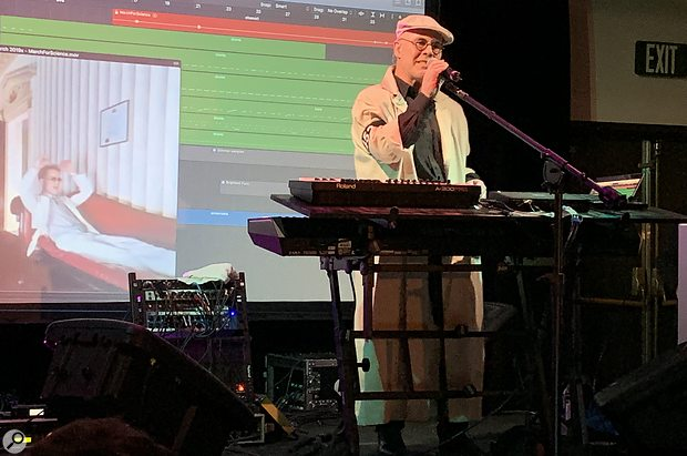 Synthplex 2019 Thomas Dolby concert.