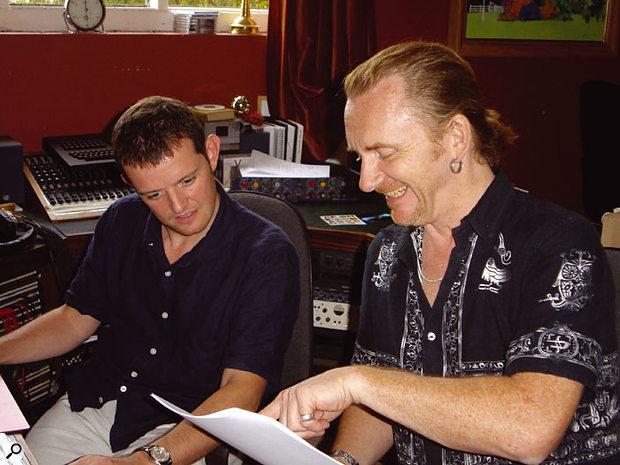 Luke Morley shares recording duties with engineer Rupert Coulson.