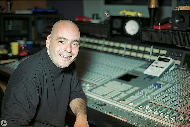 Tom Lord Alge at his SSL mixing console.