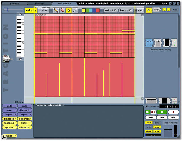 The new, improved MIDI editor still opens within the main Edit window.