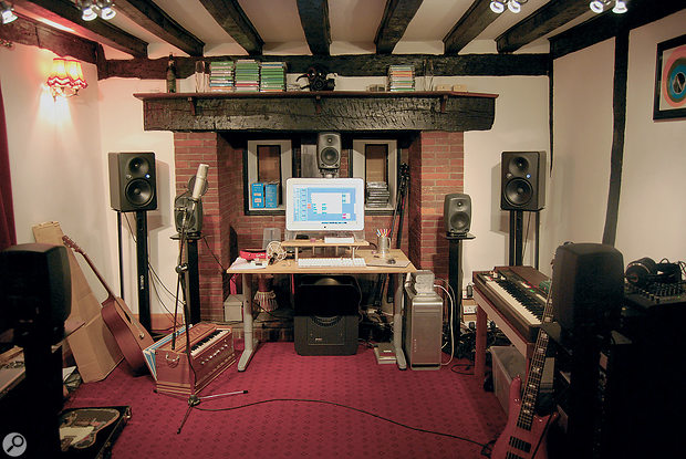 Steven Wilson's current studio is, again, a simple room in a domestic house.