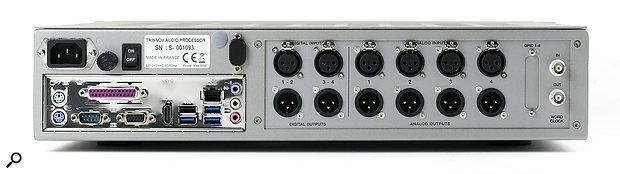 Trinnov ST2 Pro rear panel.
