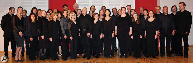 A mixed-voice adult choir, as featured in VSL's Vienna Choirs library.