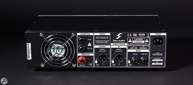 The Torpedo Reload can accommodate any combination of speaker cabinets, down to a minimum combined impedance of 4Ω.