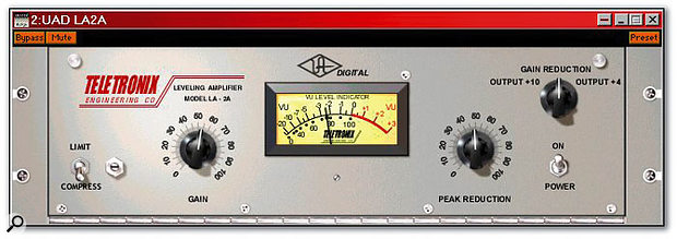 The LA2A plug-in for the UAD1 card.