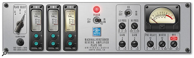 The new Plate 140 plate reverb emulation for the UAD1.