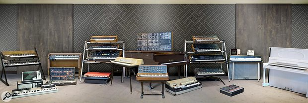 Some of the classic keyboard instruments that make up the V Collection 6 software.