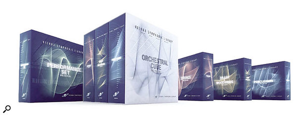 The VSL's Performance Set Pro Edition (far left) and Orchestral Cube Pro Edition (centre). As with the First Edition, the constituent volumes of the Orchestral Cube Pro Edition (the Strings, Brass & Woodwinds and Percussion Pro Editions) can also be purchased separately (right).