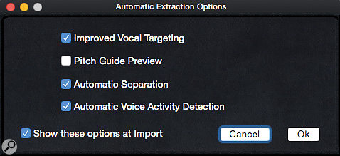 For some source material, the automatic process can perform a  decent first-pass separation. While ADX Trax Pro cannot guarantee a  perfect end result this way, it certainly reduces the time it takes to reach a point at which further editing will yield only marginal improvements in the separation.