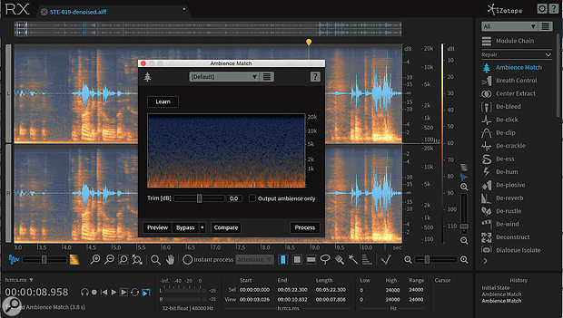 iZotope's RX6 is one of the best denoising plug‑ins, offering various different tools for zapping different noises in your vocals, but any 'noise print' noise‑removal tool — including the freeware Cockos' ReaFIR — could help you remove background hiss.