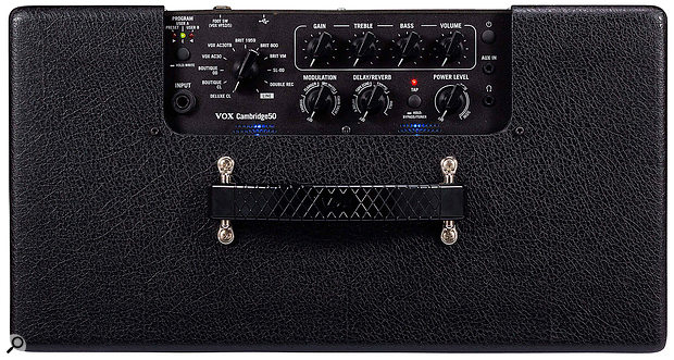 The mildly cryptic names of the various amp models, which can be selected at the twist of a knob, don't take too much deciphering!