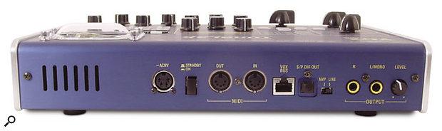 Vox Valvetronix Tone Lab rear panel.