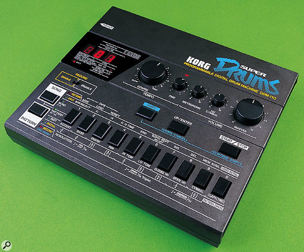 Unlike analogue drum machines, the Korg DDM110, one of the first mass-market digital drum machines, used PCM samples stored in ROM. But while it is satisfyingly 'old-skool', its drum sounds could never be described as realistic.