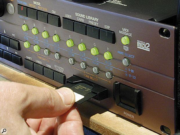 Roland XV & JV Power User Tips backing up.