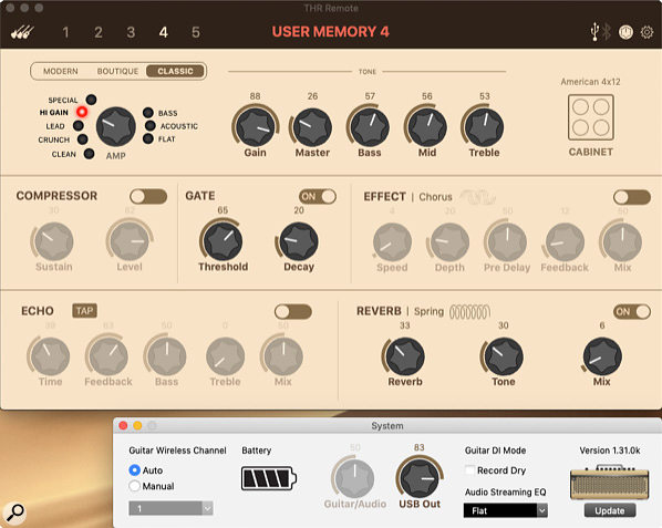 The companion app gives access to lots of additional functionality, including more cab models and more parameters for each effect.