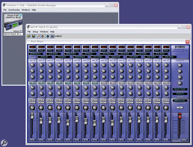 Yamaha's Studio Manager software — if you have Steinberg's Cubase SX3, Nuendo 3, or Yamaha's own SQ01 sequencer, you can use them with this application to recall settings on compatible hardware.