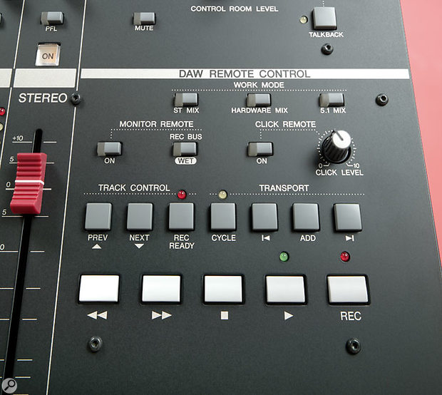 The N12 features a transport section that will work with a number of software sequencers, alongside other controls specifically for use with Cubase.