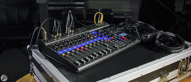 Zoom LiveTrak L‑12 multitrack recorder/mixer.