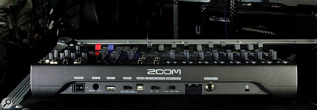With the analogue audio I/O on the top panel, the rear is dedicated largely to the digital functionality, including the two USB ports — one for connection to acomputer and one to USB pen drives, for easy transfer of recordings.
