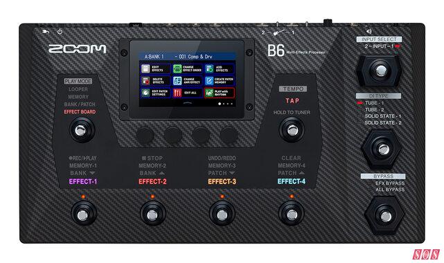Zoom unveil B6 bass processor