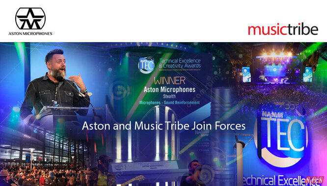 Aston Microphones join Music Tribe