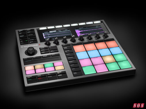 A picture of Native Instruments new Maschine Plus hardware instrument.