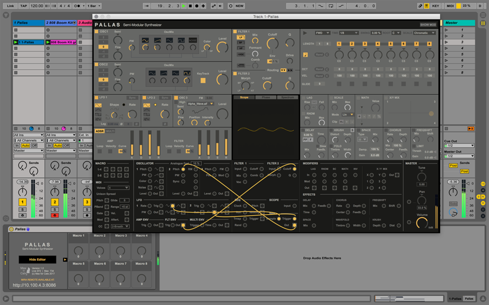 Max for Cats launch 8-voice analogue-modelling synth for Ableton
