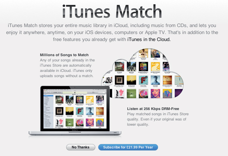 purchase itunes match