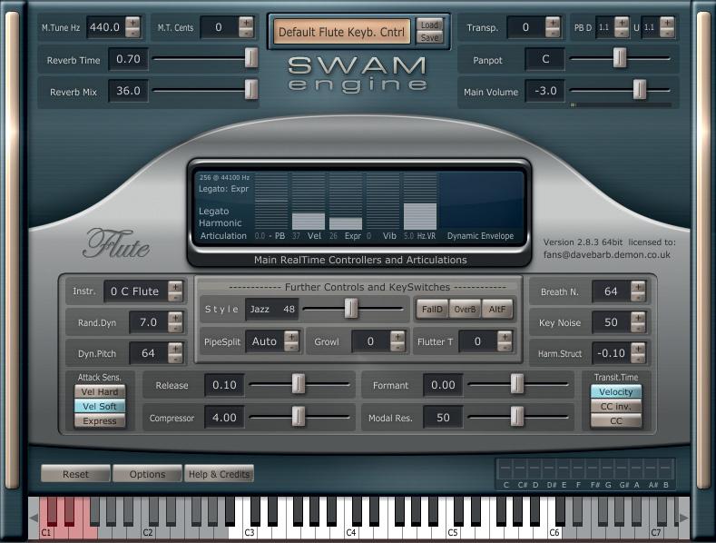 Audio Modeling SWAM Solo Instruments