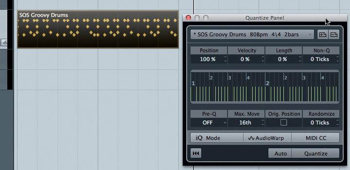 Groove-quantise, Part 1