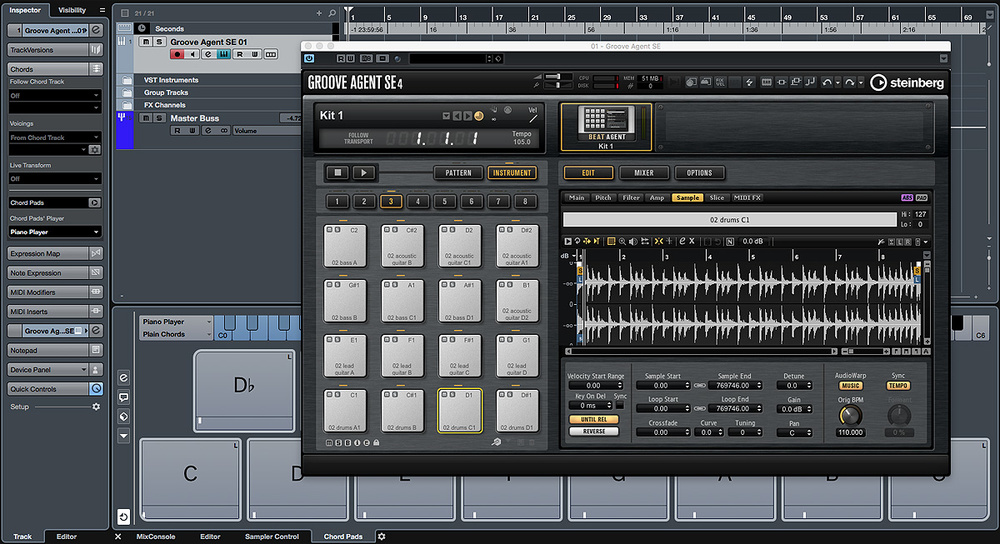 Triggering Live Loops With Cubase's Groove Agent SE