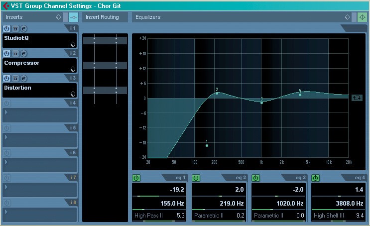 it's always worth thinking about where you place eq in relation to other  processors  it