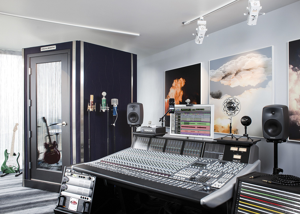 Beautiful Central To The Ultimate Home Studio Are An SSL Duality Console And A Custom  Vocal Booth From Vocalbooth.com.