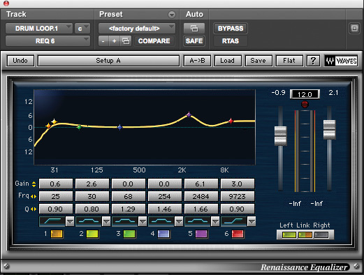 waves compressor for drums