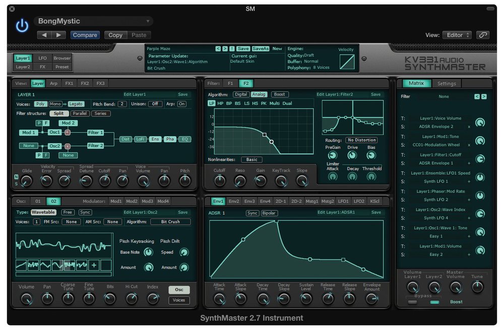 KV331 SynthMaster One synth software download