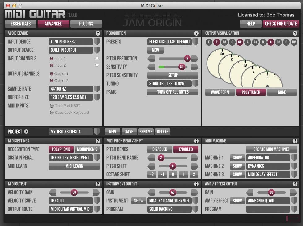 Jam Origin MIDI Guitar