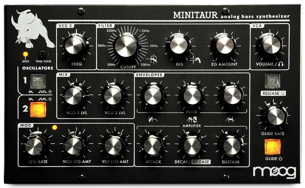 Moog releases minitaur analog bass synth 2. 2 update, new lfo.