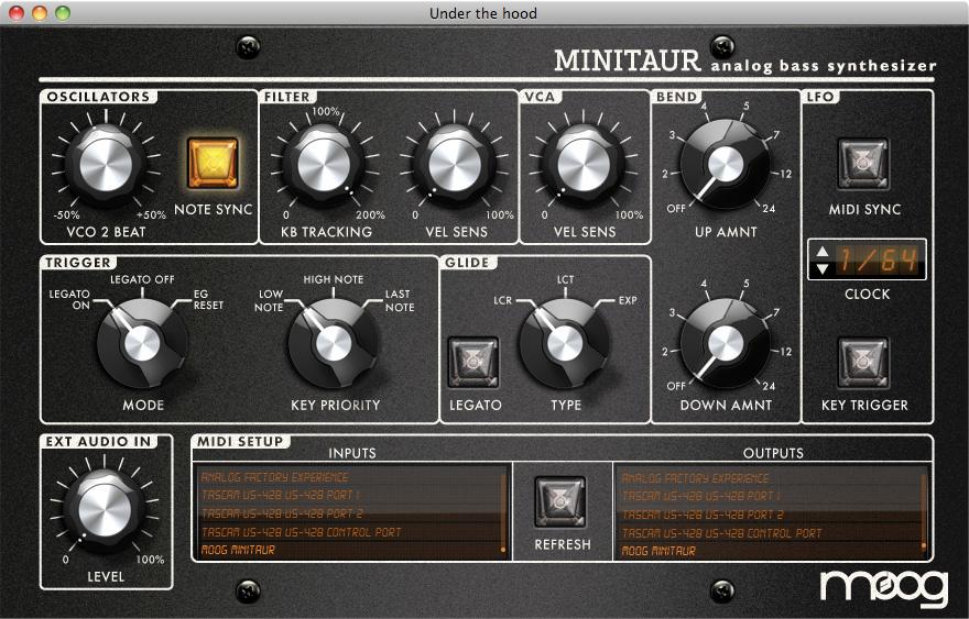 Sound design with the moog minitaur synthesizer – synthtopia.