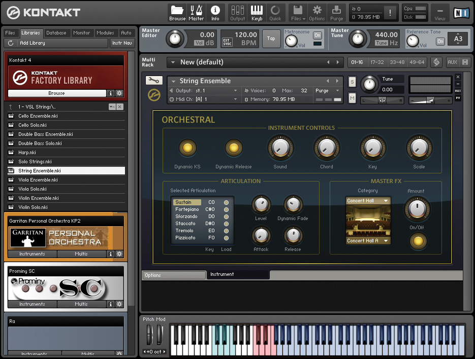 kontakt 5 factory library strings