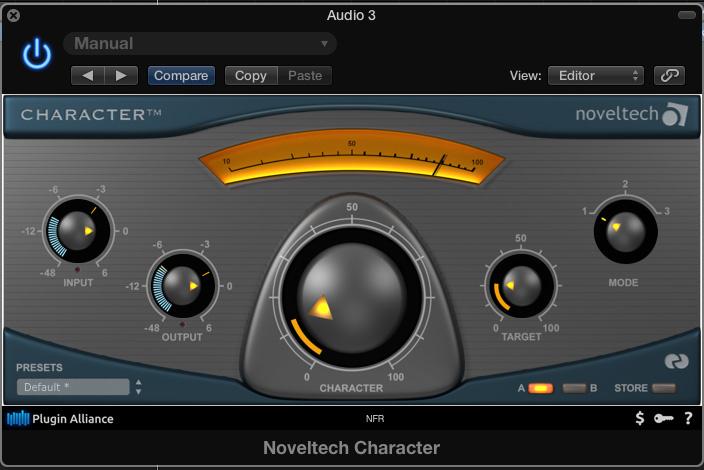 noveltech character vs