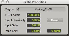 Elastic Audio = Springy Sound
