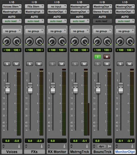 Monitor Controls In Pro Tools Mixer