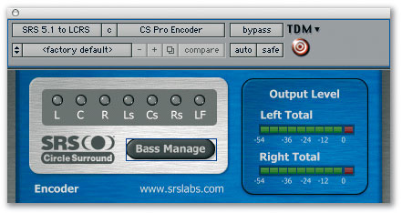 Pro Tools: Surround Sound Encoding Plug-ins