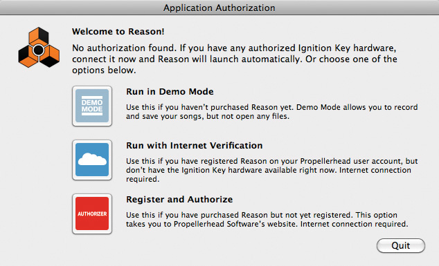 reason 6 ignition key free download