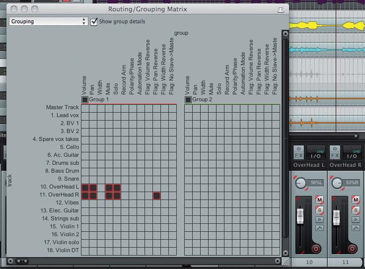 Groups, Folders & Matrices