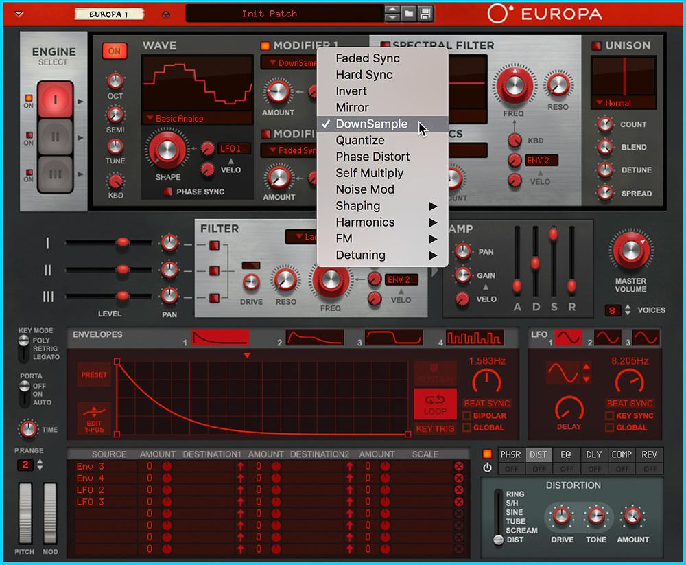 Reason's Europa Synthesizer