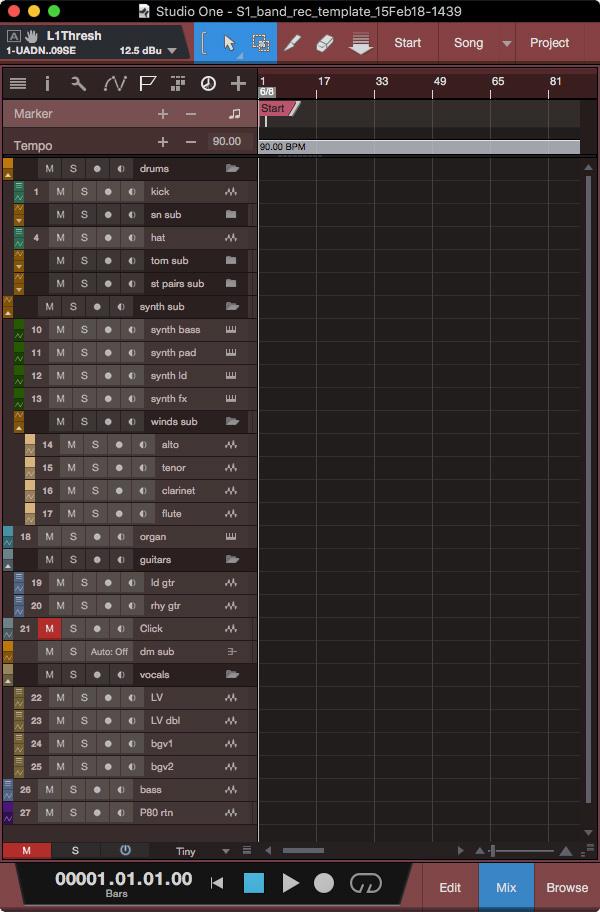 studio one template efficiency