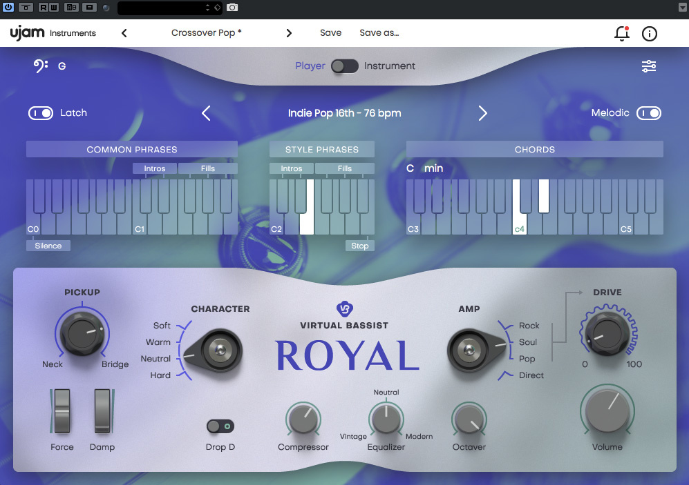 UJAM Virtual Bassist: Royal, Mellow & Rowdy