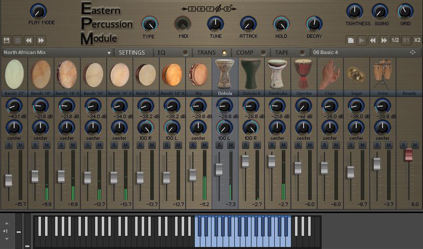 Zero-G Eastern Percussion Module